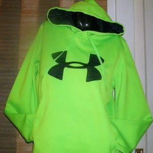#180 Neon Green Under Armour Hoodie